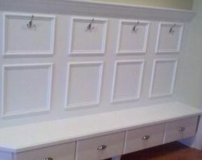 Wall UnitCustom Built Mudroom Painted Cubbie Cabinet.